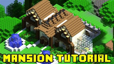 build a mansion minecraft mansion build tutorial xbox ps3 pe pc quick