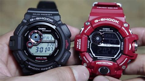 G Shock Mudman Hitam casio g shock mudman g 9300 1 vs casio rangeman gw 9400rd