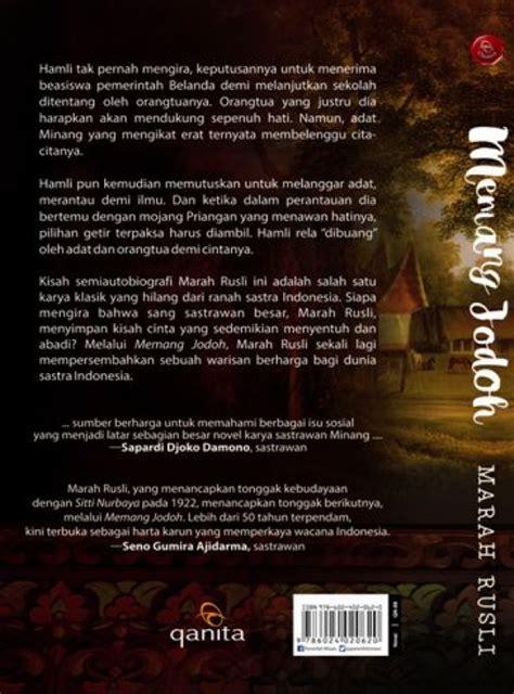 Buku Memang Jodoh By Marah Rusli bukukita memang jodoh republish toko buku