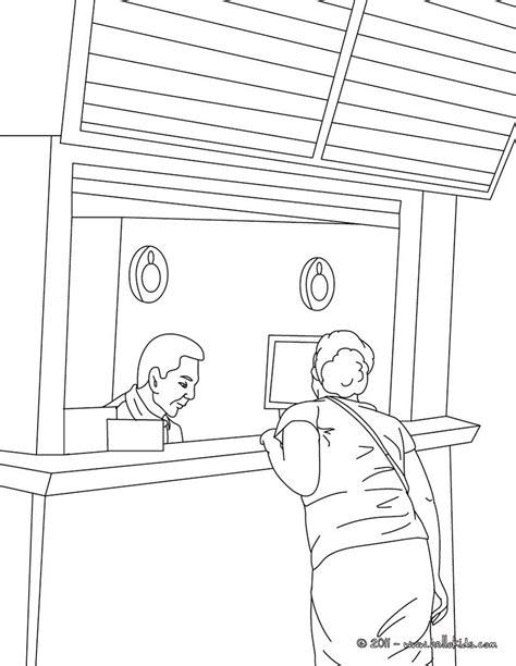 coloring page train station train station agent coloring pages hellokids com