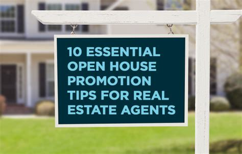 Open House Promotion Real Estate Marketing Tips