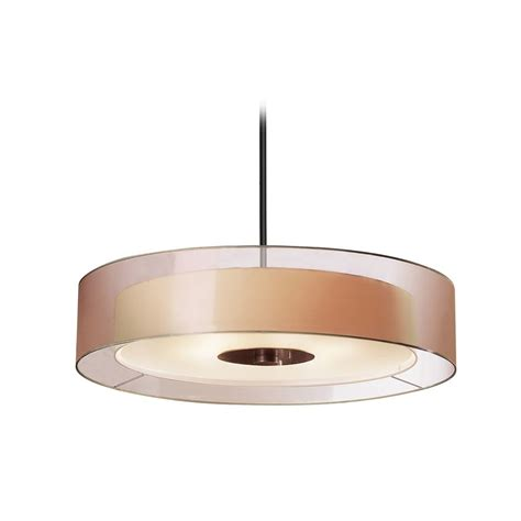 Pendant Drum Light Modern Drum Pendant Light With Brown Tones Shades In Black Brass Finish 6020 51 Destination