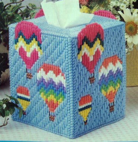 design pattern holder up away tissue box cover quot plastic canvas pattern