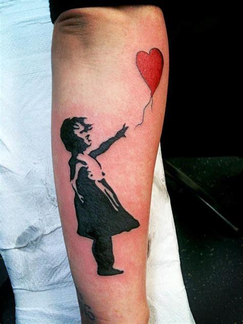 tattoo girl balloon 19 best banksy girl tattoo designs and ideas