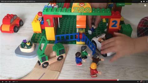 brio train  bus passengers    lego duplo zoo