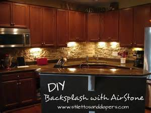 backsplash kitchen diy diy stone backsplash with airstone for the home pinterest