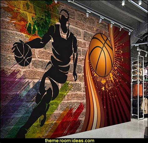 basketball wall murals decorating theme bedrooms maries manor basketball bedroom ideas basketball decor