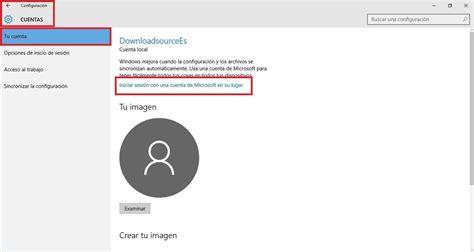 quitar imagenes cuenta windows 10 como convertir tu cuenta de microsoft en una cuenta local