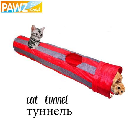 Cat Tunnel by Pet Tunnel Cat Play Tunnel Gray Foldable 2 Holes Cat