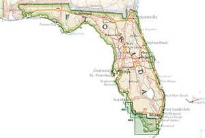 map of the florida trail trails illustrated florida national geographic maps