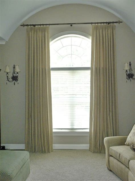 Window Treatments For Arched Windows Arched Top Windows Traditional Window Treatments