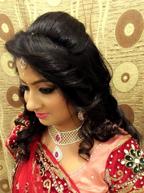 Wedding Reception Hairstyles For Indian by Indian S Bridal Reception Hair Hairstyle By Swank