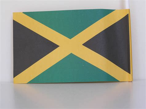 How To Make Paper Flags - paper flag 15x9 3cm jamaican products