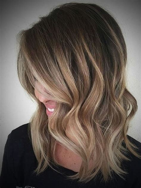 blonde ombres for medium lengths dark brown to medium brown ombre hairstyle of nowdays