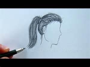 frisuren zeichnen anleitung zeichnen lernen haare zeichnen im profil mit bleistift frisur malen