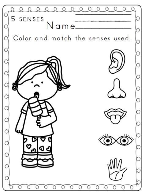 worksheets for preschoolers on the five senses toddler 5 senses printable preschool printables