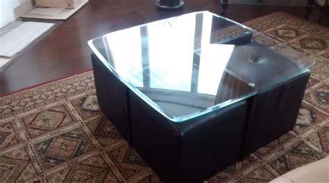 glass coffee table with ottomans glass coffee table with ottomans nepean ottawa