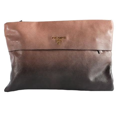 Prada Glace Folder Clutch In The City by Prada Glace Folder Clutch
