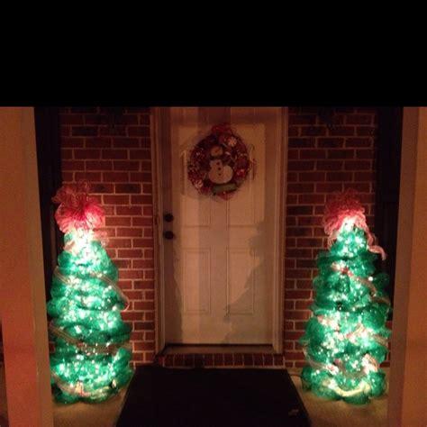 tomato cage deco mesh christmas trees christmas