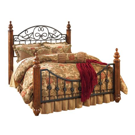 wyatt bedroom set signature design by ashley wyatt poster bed atg stores