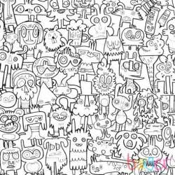 burgerdoodles diy coloring wallpaper for your