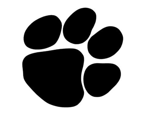 Bobcat Paw Print Outline by Bobcat Paw Print Outline Cliparts Co
