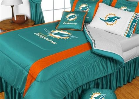 miami dolphins nfl bedding sidelines comforter and sheet