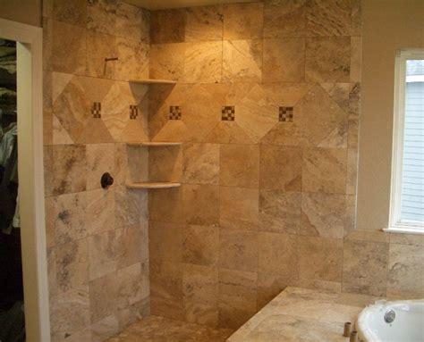 Installing Travertine Tile Travertine Shower Pictures Travertine And Glass Master Bathroom Shower Tile Installation In
