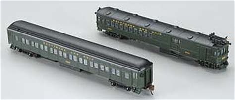 doodlebug n scale emc gas electric doodlebug coach trailer b o n scale model