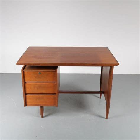 m22512 1950s small teak desk netherlands de vreugde design