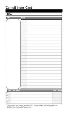 index card paper template templates d i y planner