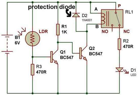 diodes with relays how to use a relay electronics lab