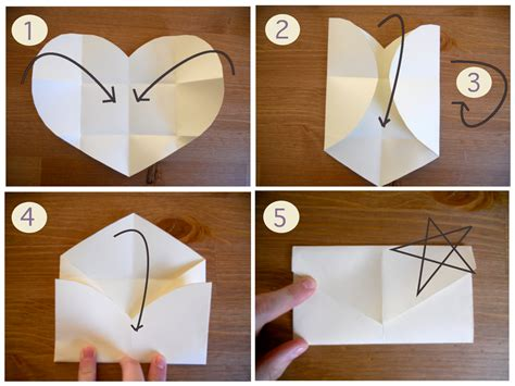 Paper Envelope Fold - a in an eastern sky diy valentines folded