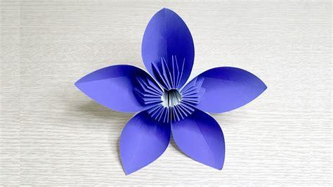Origami 5 Petal Flower - kusudama 5 petal kusudama flower origami kusudama