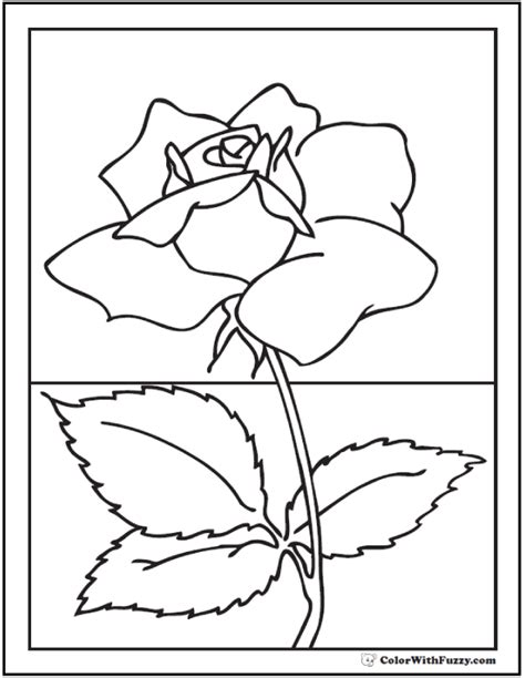 realistic rose coloring page 73 rose coloring pages customize pdf printables