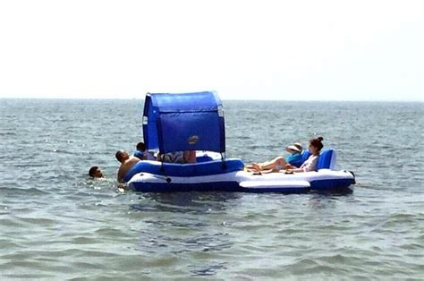 pool couch floats super giant inflatable pool floating island thickened