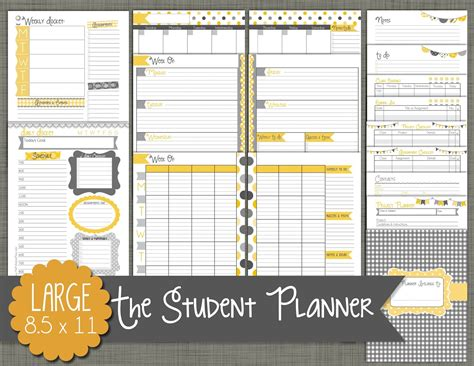 student daily planner template the polka dot posie our new student planners are here