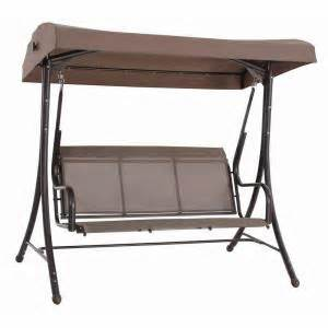steel solar lit patio swing gss00005j the home depot - Home Depot Patio Swing