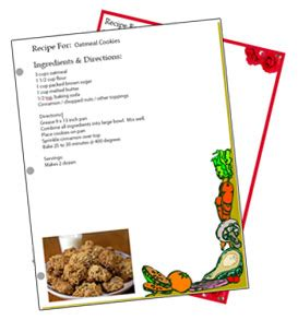 free recipe card template 8 5 x 11 binder sized free recipe card templates