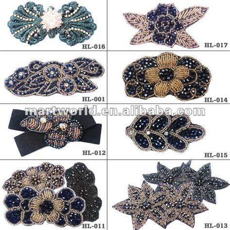 oem rhinestone beaded embellishments for dresses hl 002