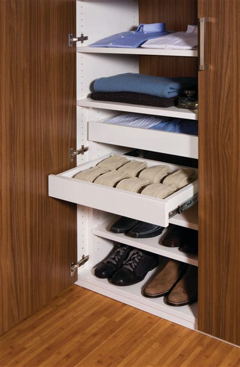 Walk In Wardrobe Drawers Walk In Closet Sliding Drawers Contemporary Closet
