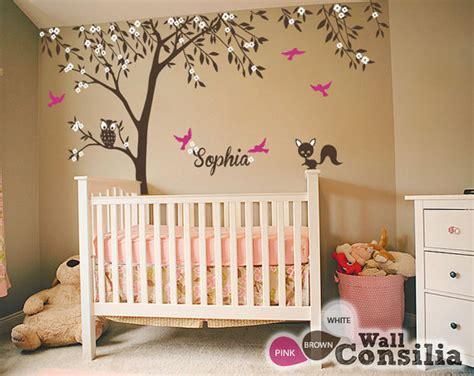 Baby Nursery Tree Wall Decals Baby Nursery Wall Decals Tree Wall Decal Tree Decal Owl
