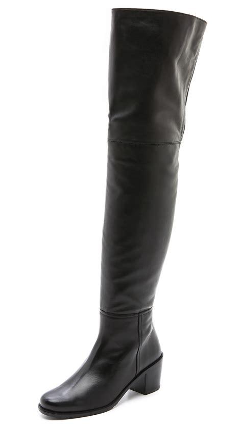 stuart weitzman the knee boots stuart weitzman hitest the knee boots in black lyst