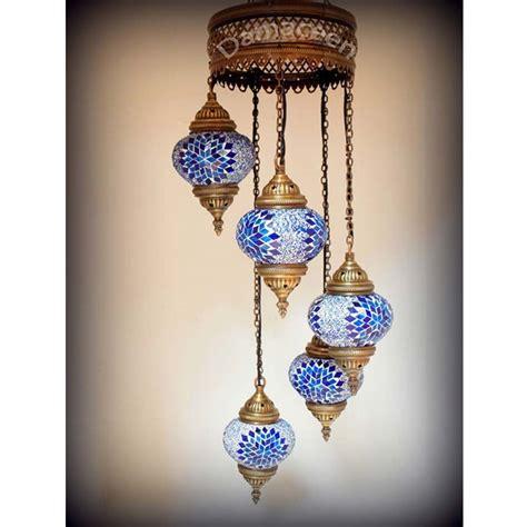 Turkish Mosaic Chandelier 5 Turkish Made Mosaic Chandelier
