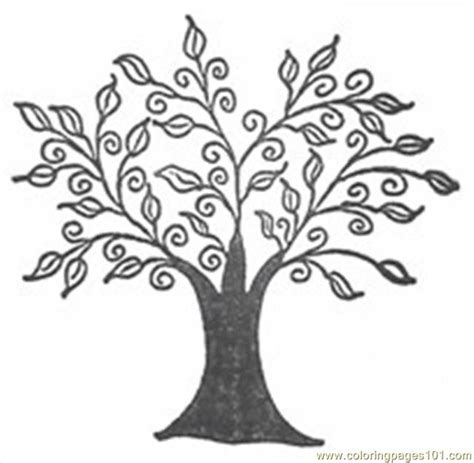A Tree Coloring Pages Free Printable Tree Coloring Pages