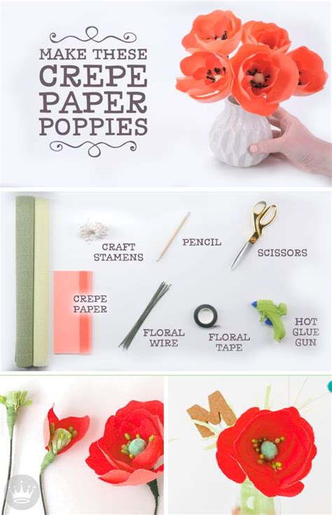 How To Make Paper Poppies - 17 best images about crafts paper on paper