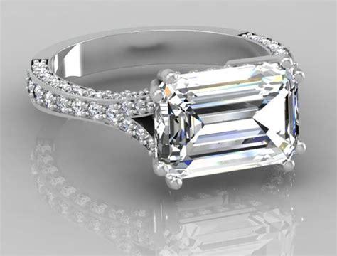 ring settings ring settings for emerald cut stones