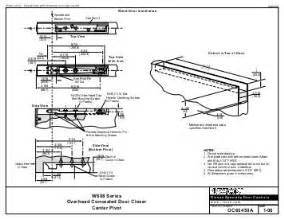 Rixson Templates by Rixson Model Mw608 Template And Installation Epivots