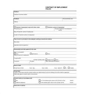 Basic Contract Of Employment Template by Doc 407527 Free Employment Contract Free Basic