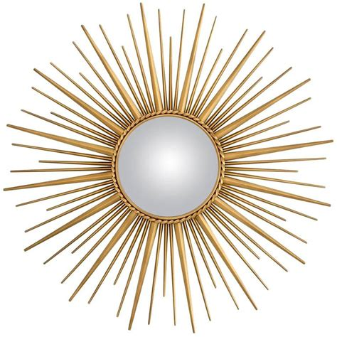 Home Interiors Mirrors Sun Mirror In Antique Gold Finish And Convex Mirror For